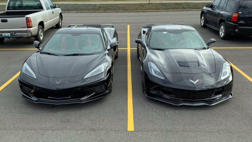 C7 and C8 side by side, front raised angle