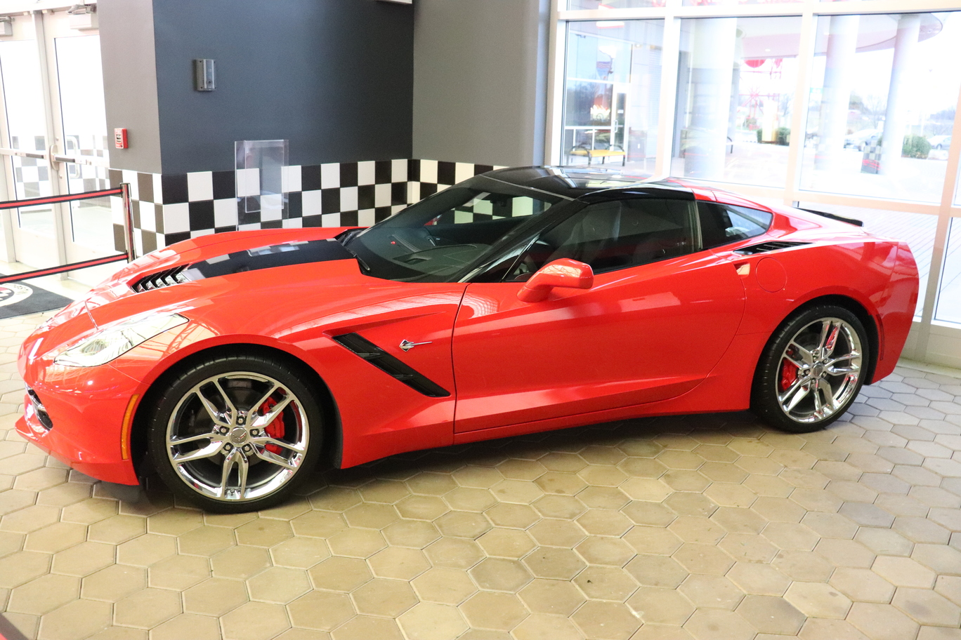C7 Corvette on display at the National Corvette Museum