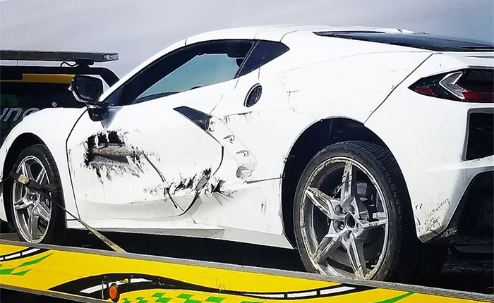 2020 Corvette C8 track crash