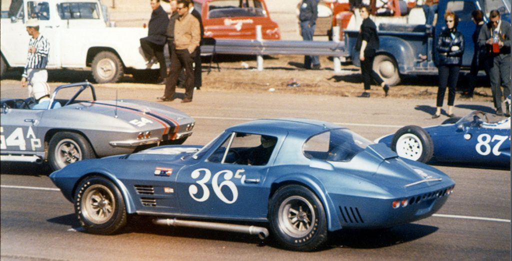 1963 Corvette Grand Sport at the track