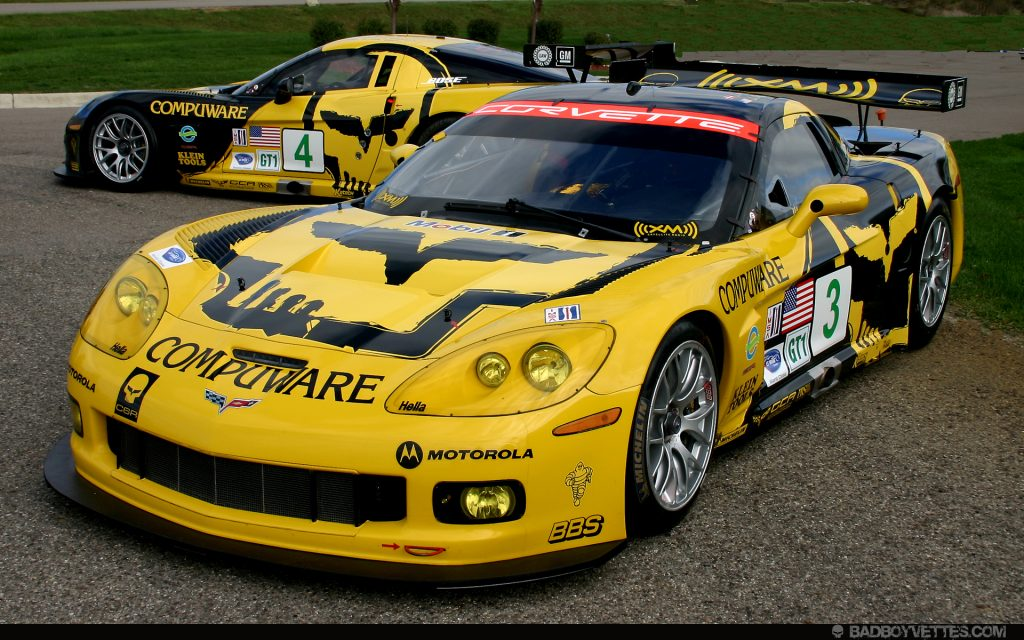 The 2007 Corvette C6.R liveries for the Petit Le Mans at Road Atlanta in Braselton, Georgia.