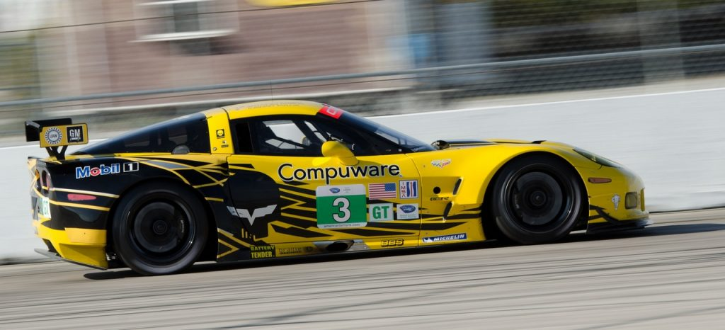 The 2013 Corvette C6.R at that year's running of the 12 Hours of Sebring.
