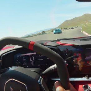 2020 C8 CORVETTE BATTLES PORSCHE GT3 RS ON TRACK