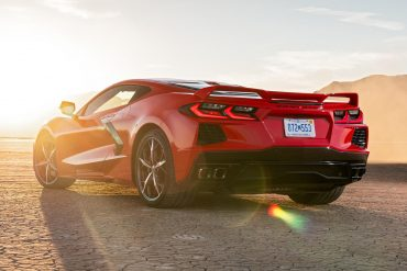 2020 Corvette C8 sunset