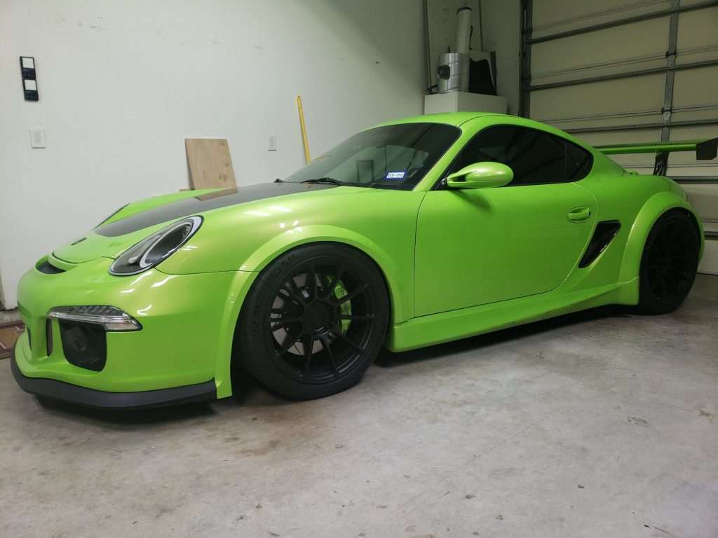 """IT'S ALIVE!"" A 2007 Porsche Cayman with a Chevrolet LSA engine and a Lamborghini transmission and paint color...this thing is one badass ""Frankenstein's Monster!"""