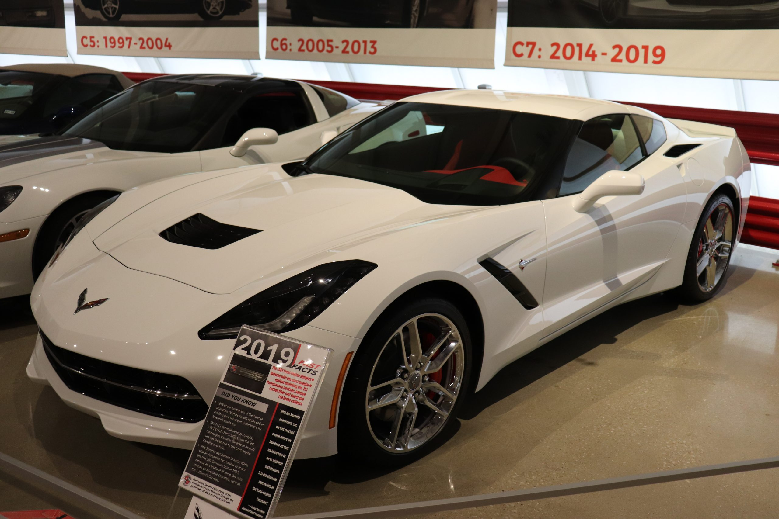 C7 Corvette on display at the NCM