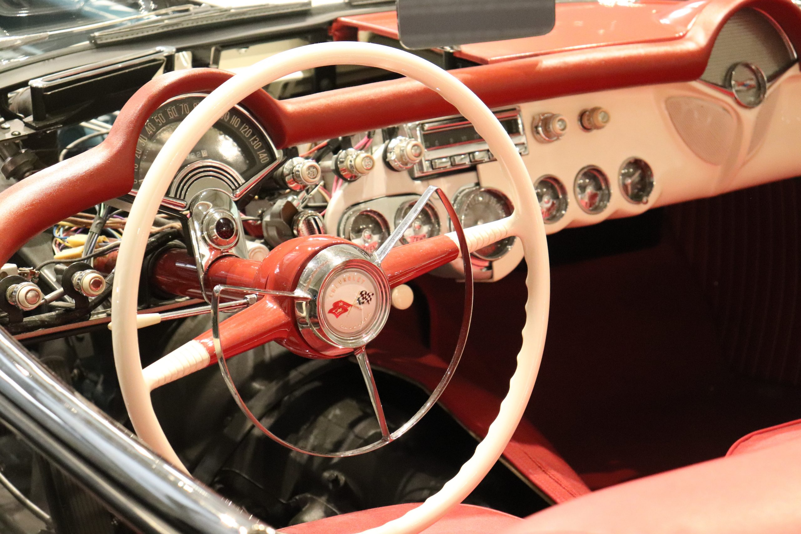 C1 Corvette Horn Ring Steering Wheel