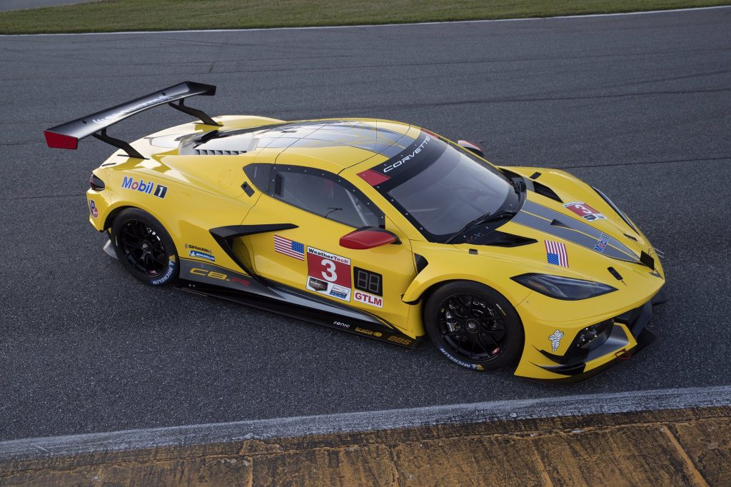 The No. 3 C8.R Corvette Race Car in its official livery.