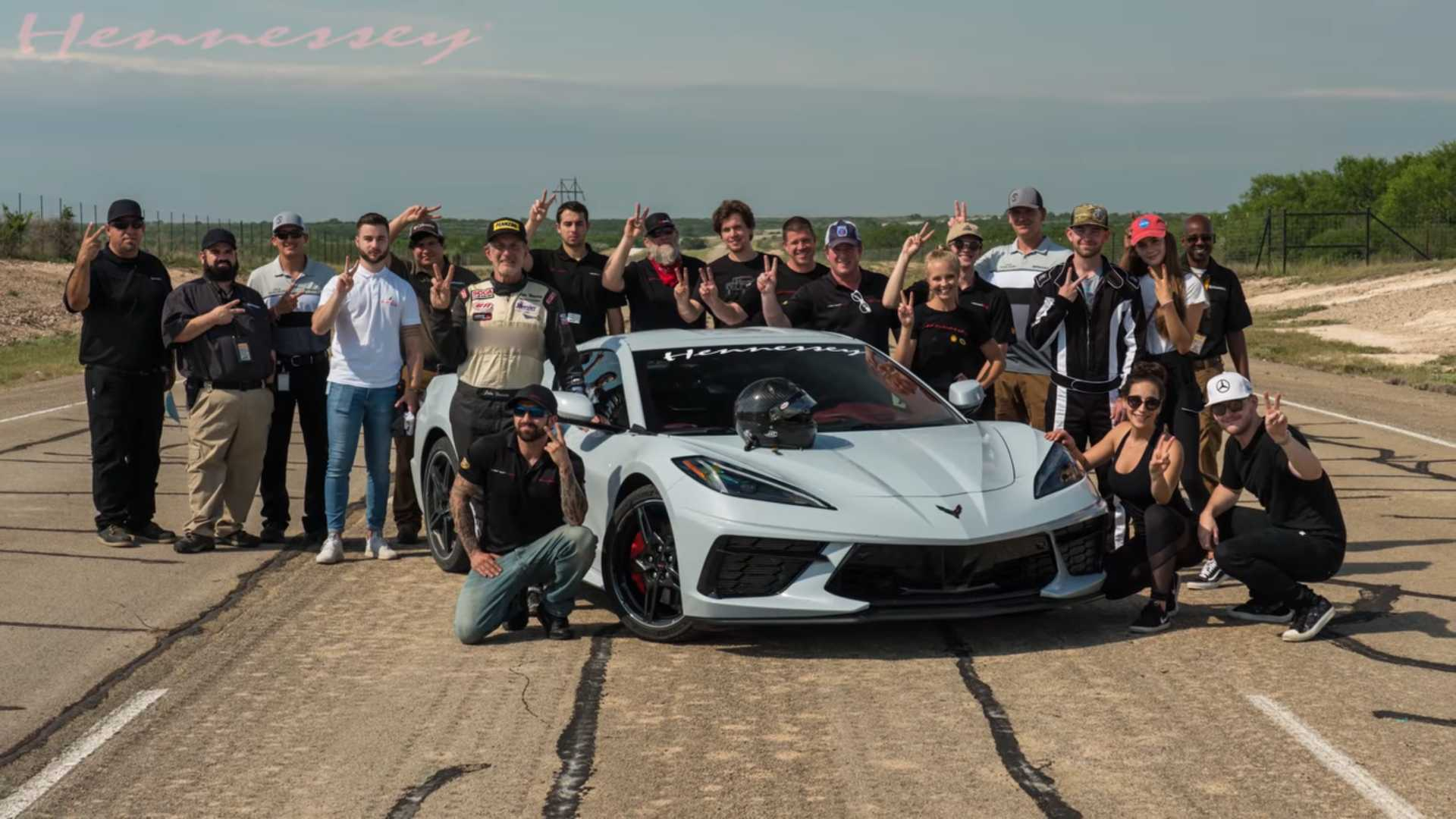 Hennessey Corvette C8 200 MPH run