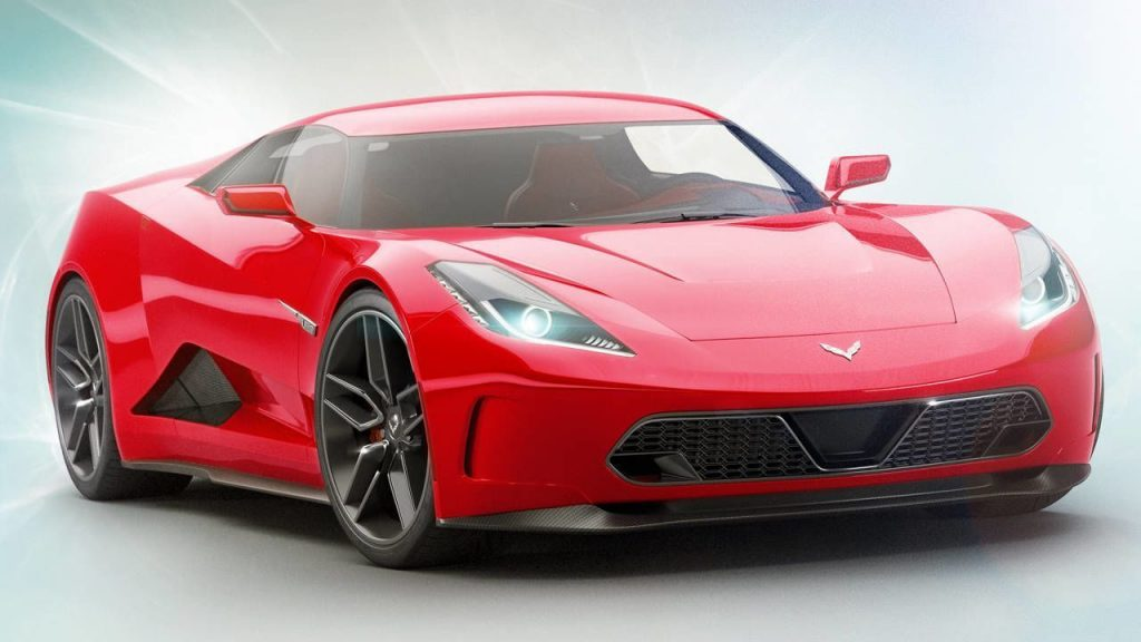 "The Corvette ""Zora"" as rendered by Car and Driver Magazine."