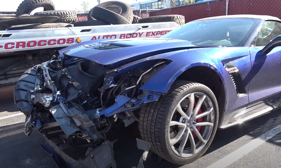 corvette crash video