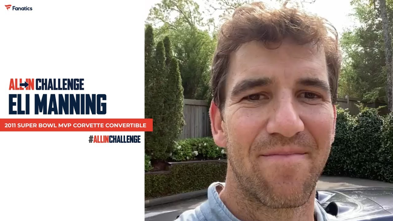 Eli Manning all in challenge