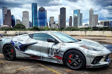 C8 Corvette with fighter jet wrap