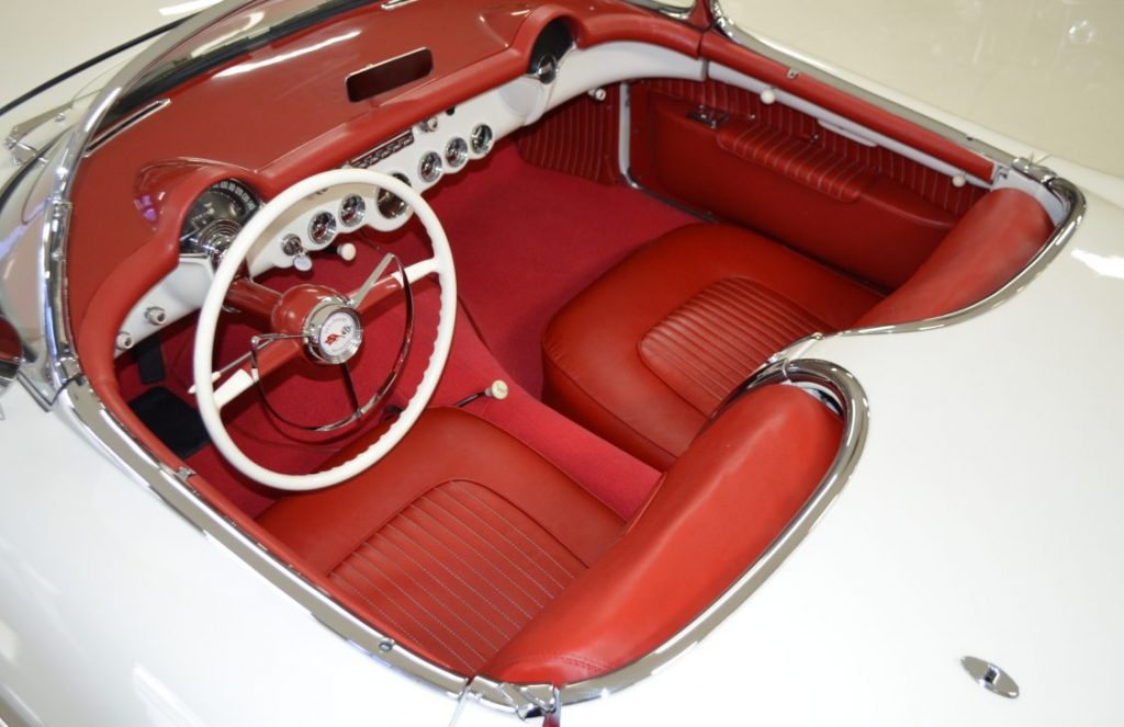 The interior of this 1953 Corvette is beautifully restored to better-than-factory standards.