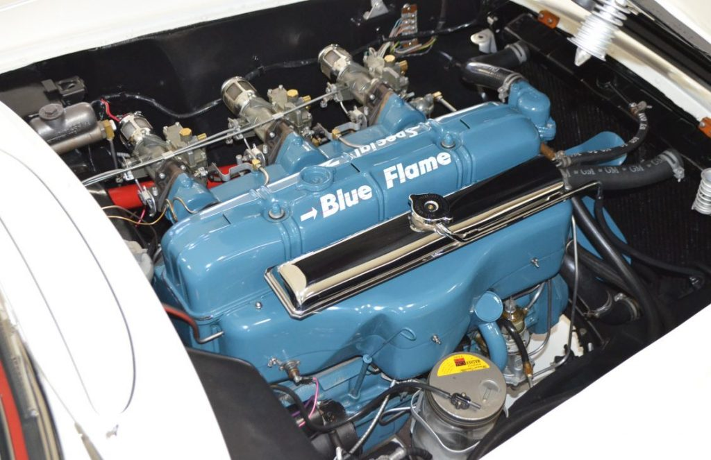 "This beautifully maintained/restored ""Blue Flame"" six-cylinder engine looks as good now as it did back in 1953."