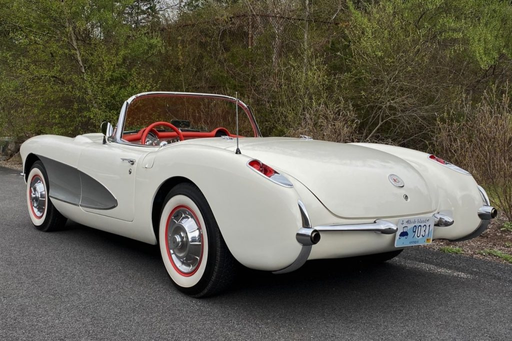 FOR SALE: A beautiful 1957 Chevrolet Corvette.