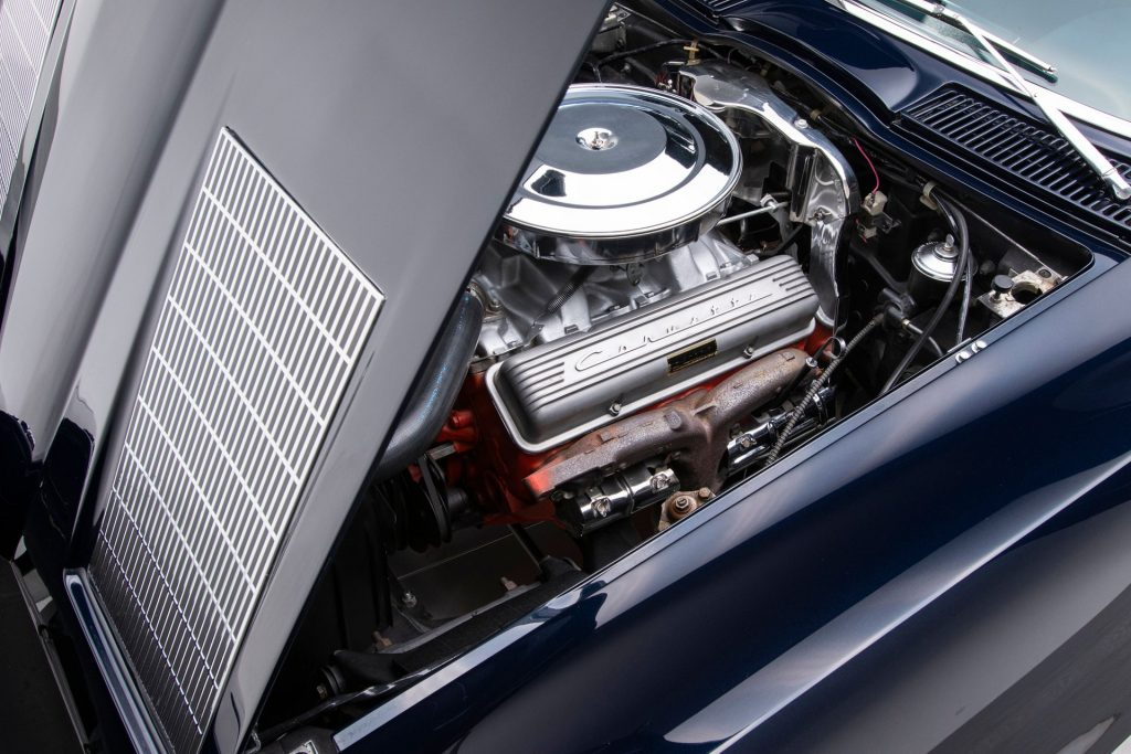This 1963 Corvette features the numbers-matching 327 cubic-inch V8 engine.