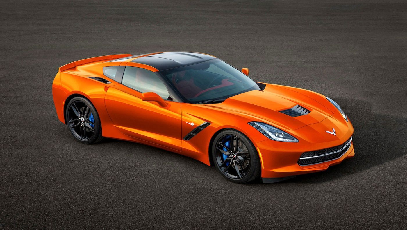 Orange Corvette Wallpapers