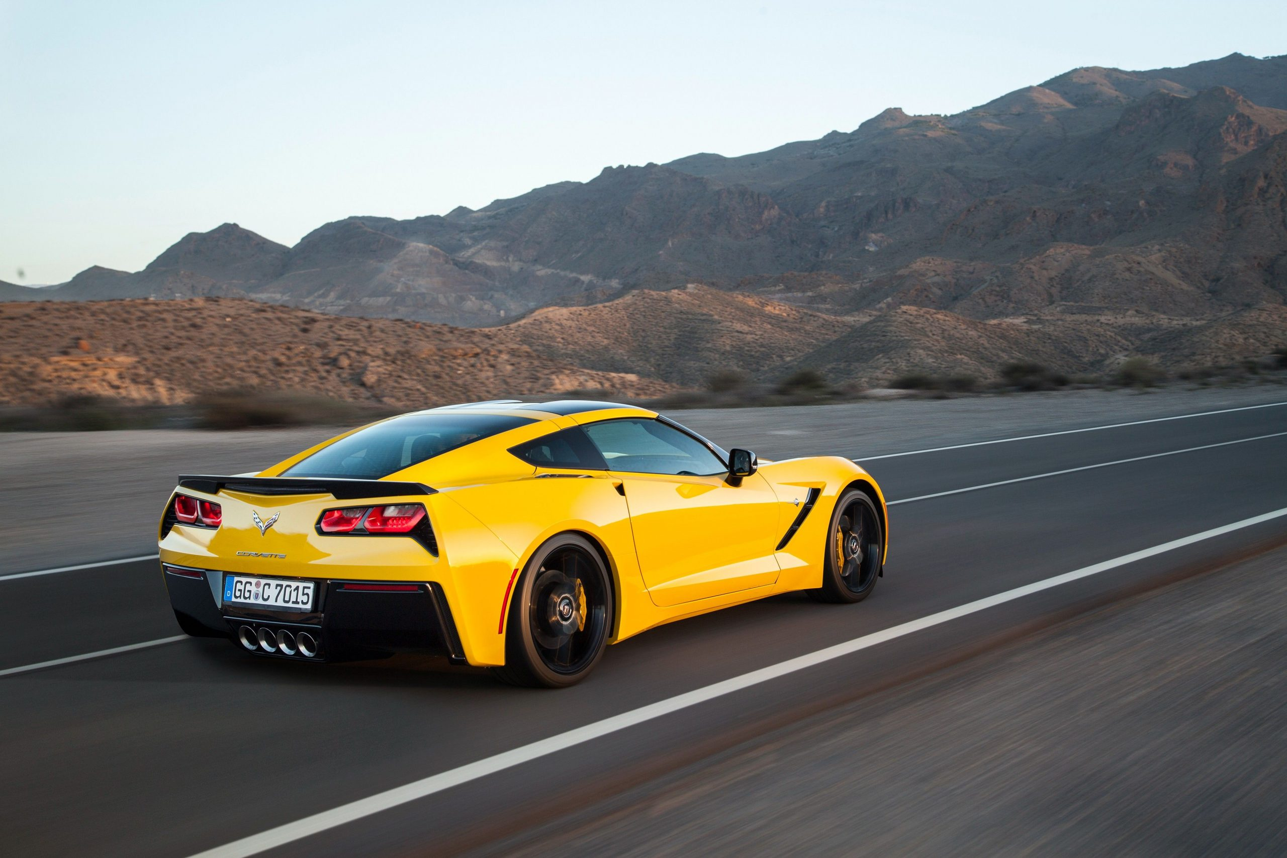 Yellow Corvette Wallpapers