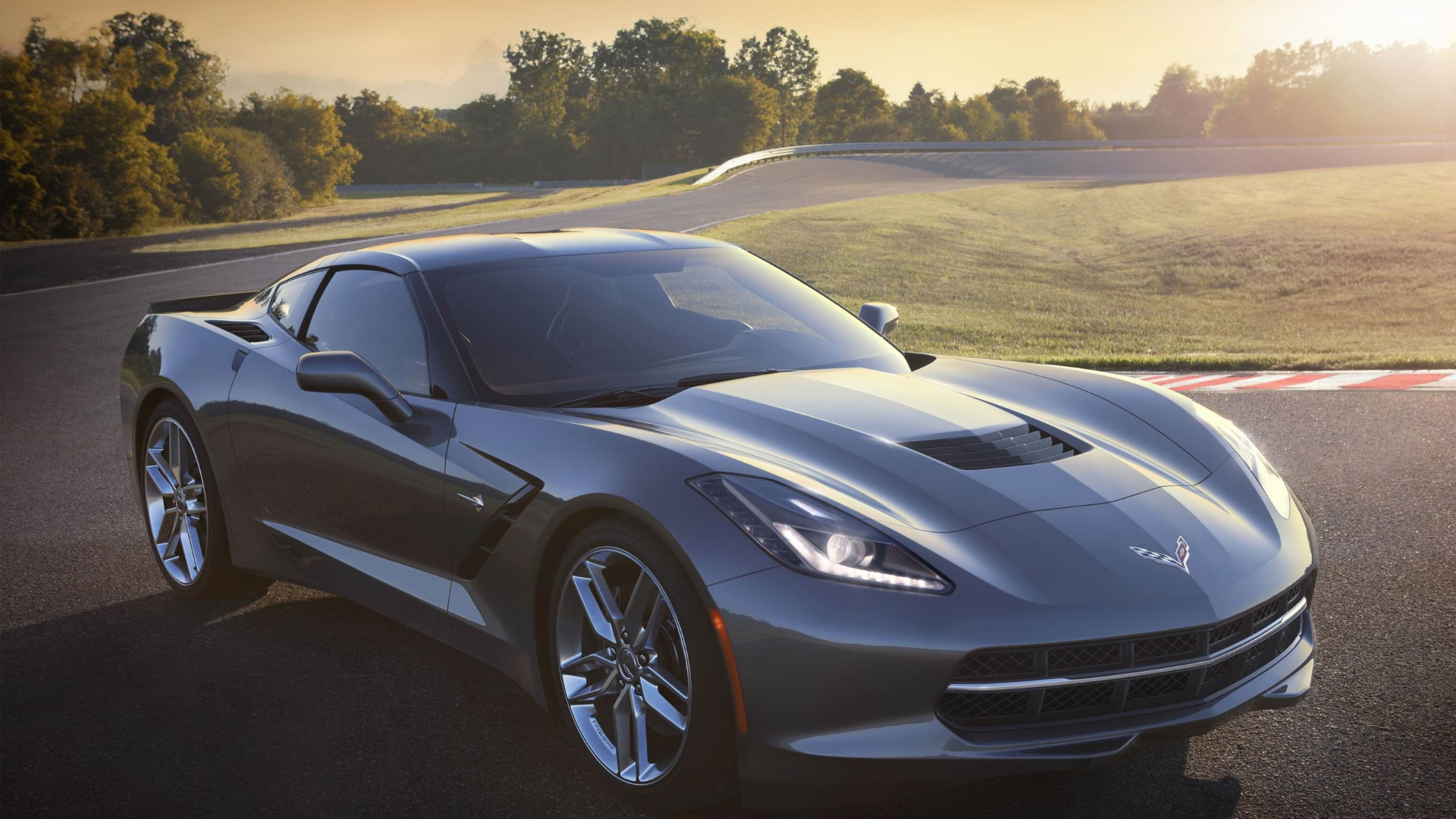 Silver Corvette Wallpapers