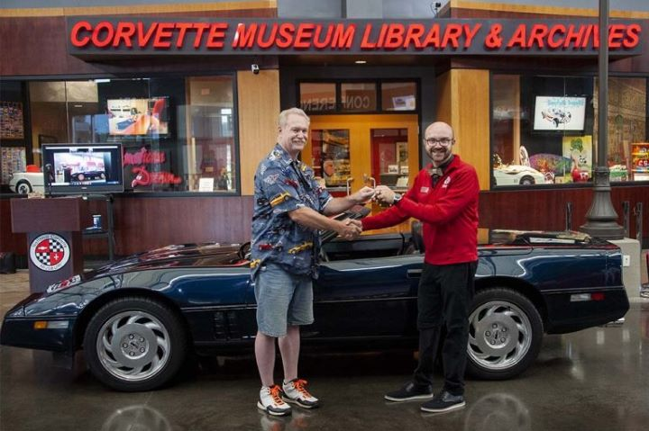 1988 Miss America Corvette C4 convertible donated