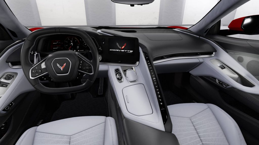 The 2021 Corvette Stingray with Sky Cool Grey Interior