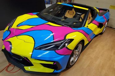 Wrapped 2020 Corvette C8