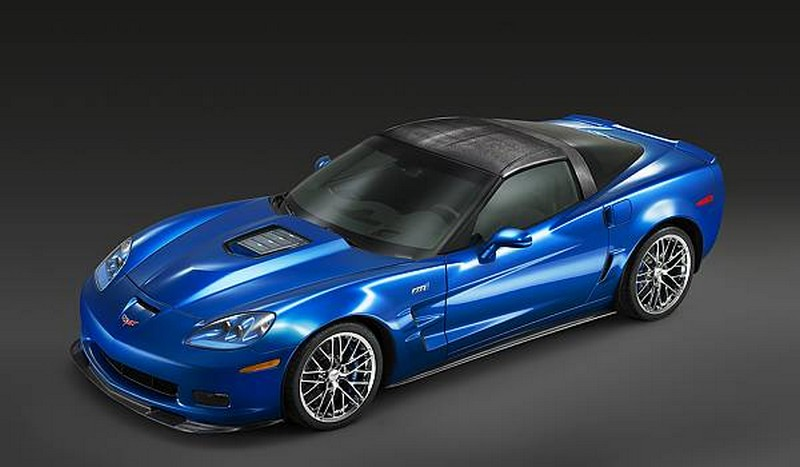 Blue ZR1 Corvette with LS9 engine
