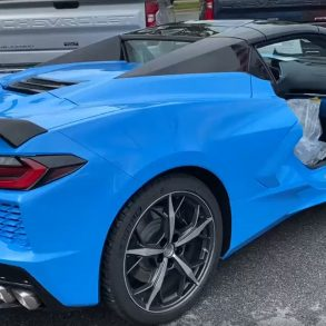Rapid Blue C8 Convertible