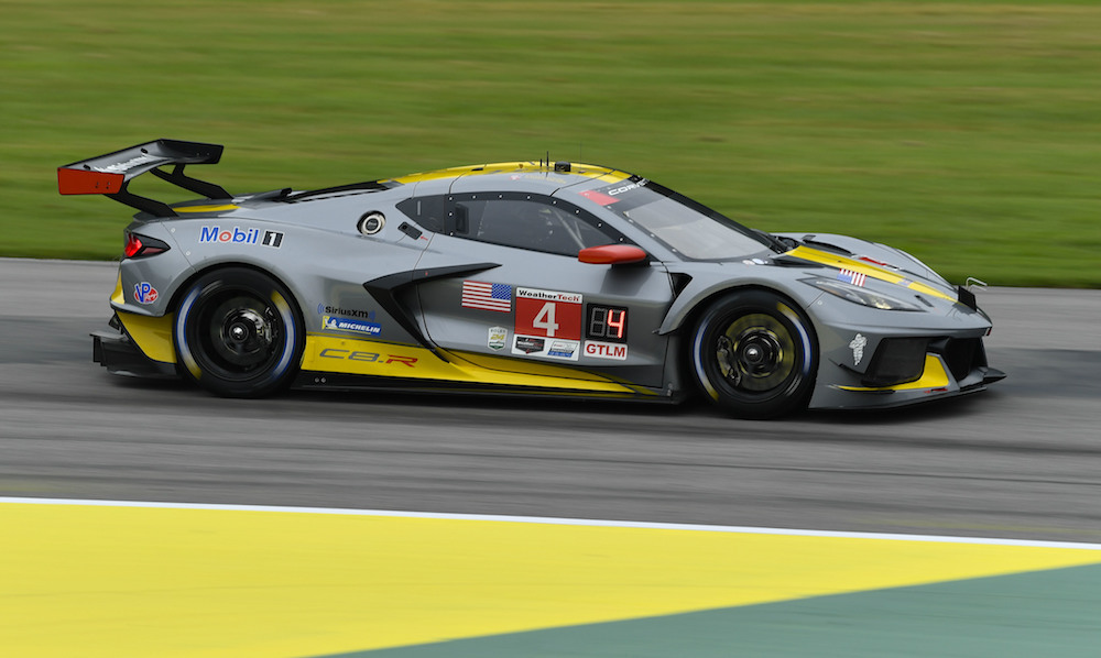 The No. 4 Corvette C8.R piloted by Oliver Gavin and Tommy Milner