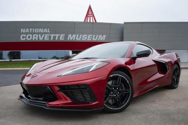 red tintcoat C8 Corvette 2021