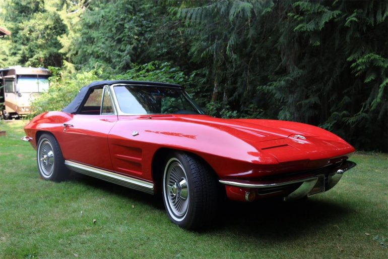 1964 red chevrolet corvette