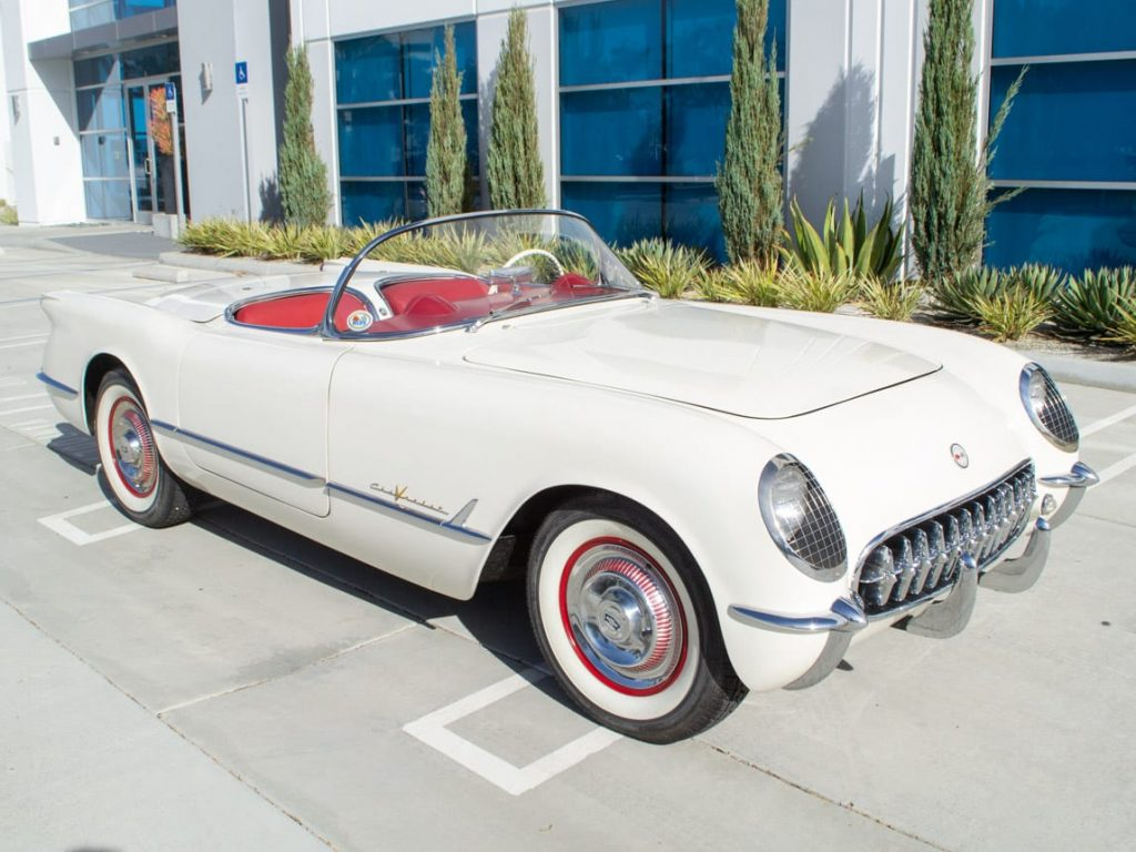 1955 Corvette Polo White