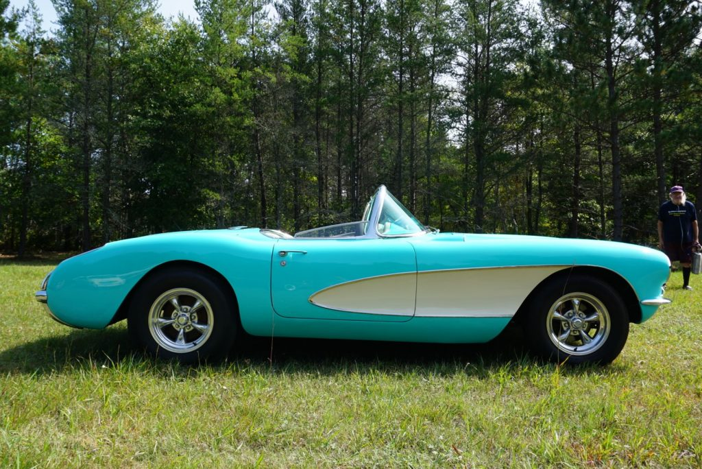 This 1956 Corvette is currently listed for sale on the Facebook Marketplace.