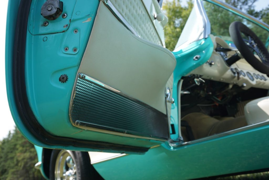 Even the door trim on this car appears to have been gone over in great detail to ensure an accurate-yet-beautiful restoration of this amazing Corvette.