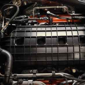 Convertible engine bay