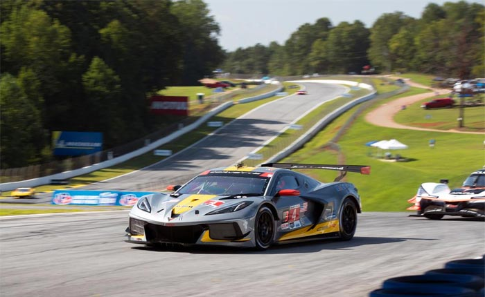 The No. 4 C8.R Corvette driven by Tommy Milner and Anotonio Garcia secured a second-place finish at Road Altanta on Saturday, September 5, 2020.
