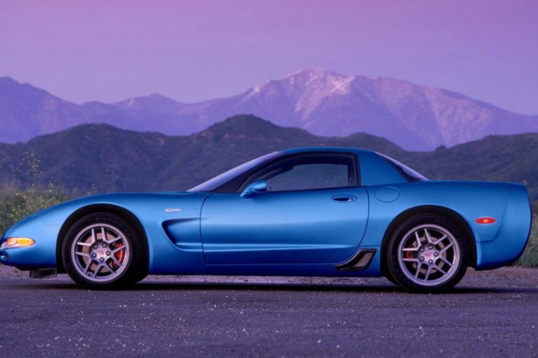 Blue 2001 Z06 Corvette with LS6 engine