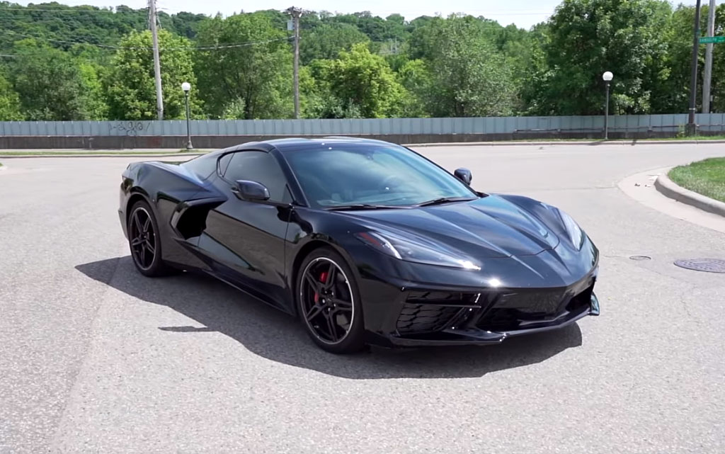 Black 2020 C8 Corvette with LT2 engine
