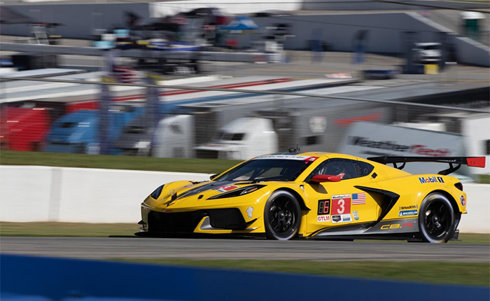 The No. 3 C8.R Corvette running second in class at Road Altanta this past weekend.