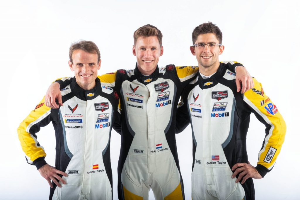Antonio Garcia, Nicky Catsburg and Jordan Taylor finished second in the #3 Mobil 1/SiriusXM Chevrolet Corvette C8.R at the Petit Le Mans at Road Atlanta.
