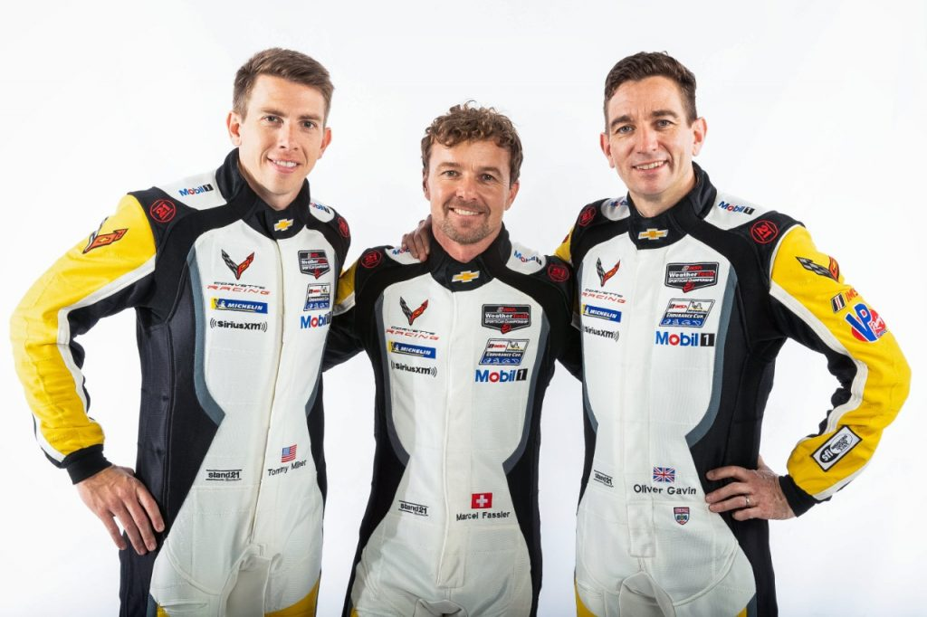 Tommy Milner, Marcel Fässler and Oliver Gavin piloted the #4 Mobil 1/SiriusXM Chevrolet Corvette C8.R to a fourth-place class finish at the Petit Le Mans at Road Atlanta.