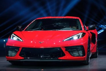 Red 2020 C8 Corvette with LT2 engine