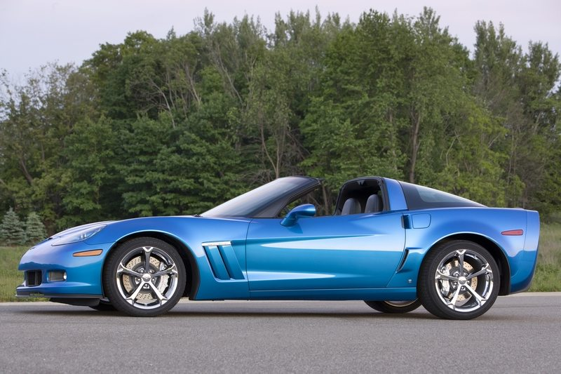 Blue Corvette Grand Sport with LS3 engine