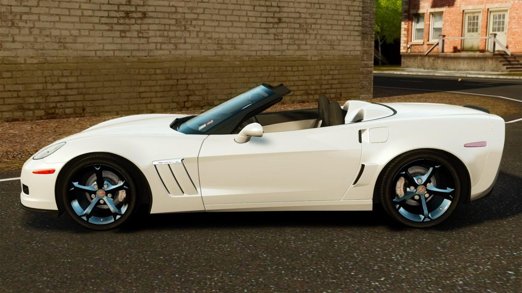 White 2010 Corvette Convertible with LS3 engine