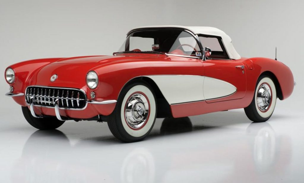 A 1956 Corvette is most easily recognizable because of its single-headlight assembly (also found on the 1957 model).