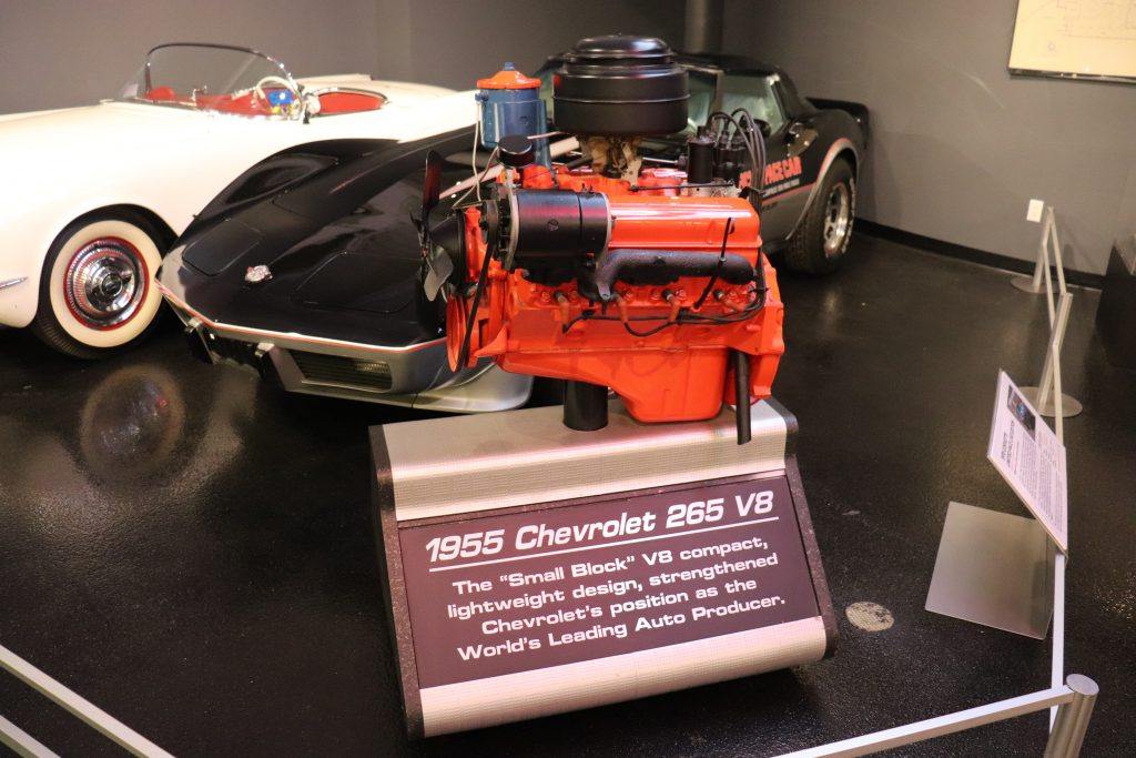 1955 265ci V8 on display at the National Corvette Museum