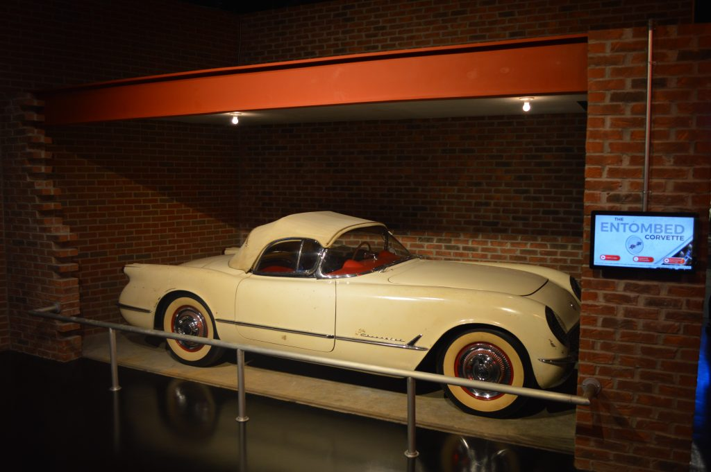 Richard Sampson's 1954 Corvette on display at the National Corvette Museum.