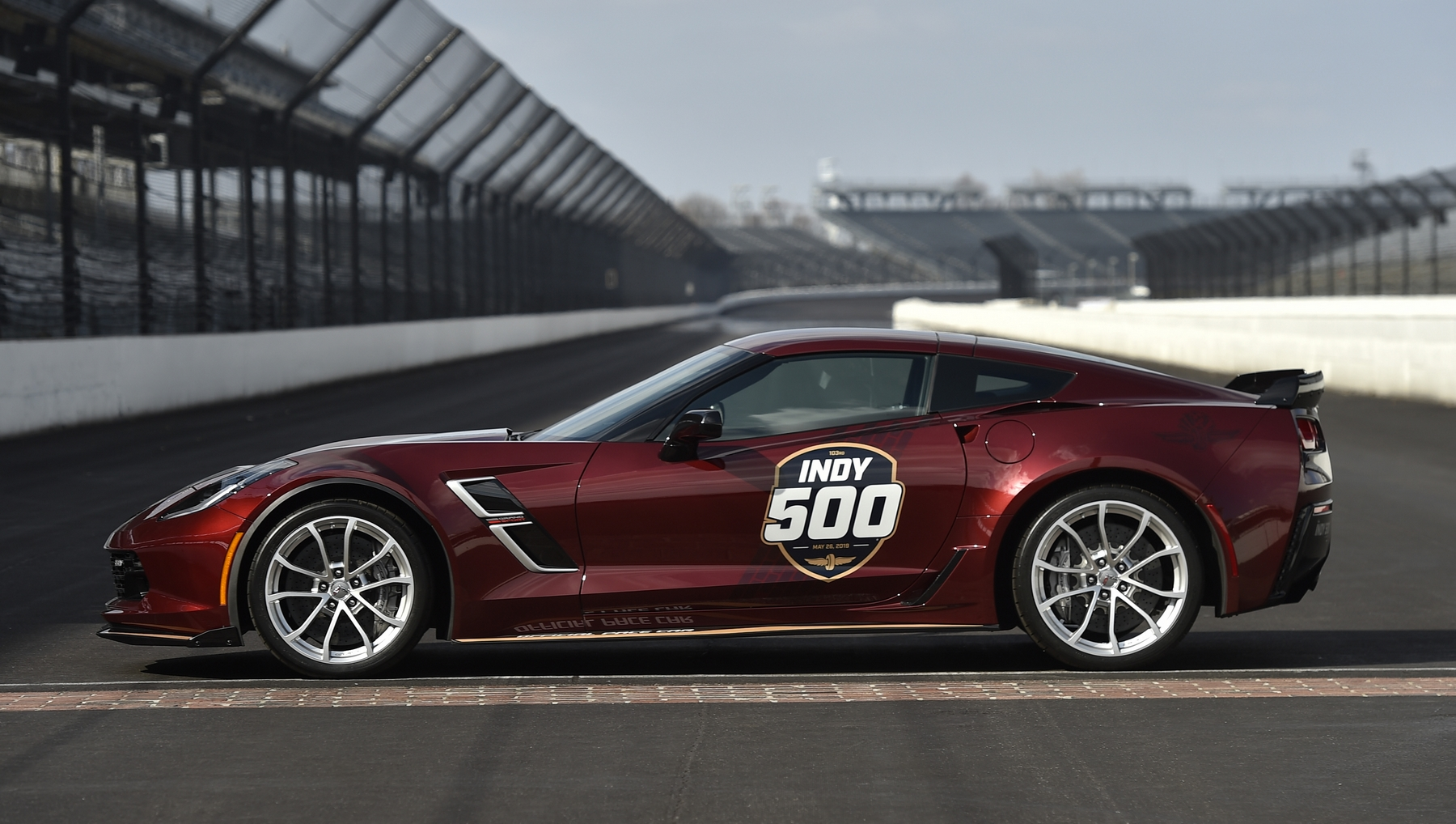 The 2019 Corvette Grand Sport served as the Official Pace Car for the 2019 Indianapolis 500 presented by Gainbridge, leading 33 drivers to the green flag on May 26 for the 103rd running of the legendary race.