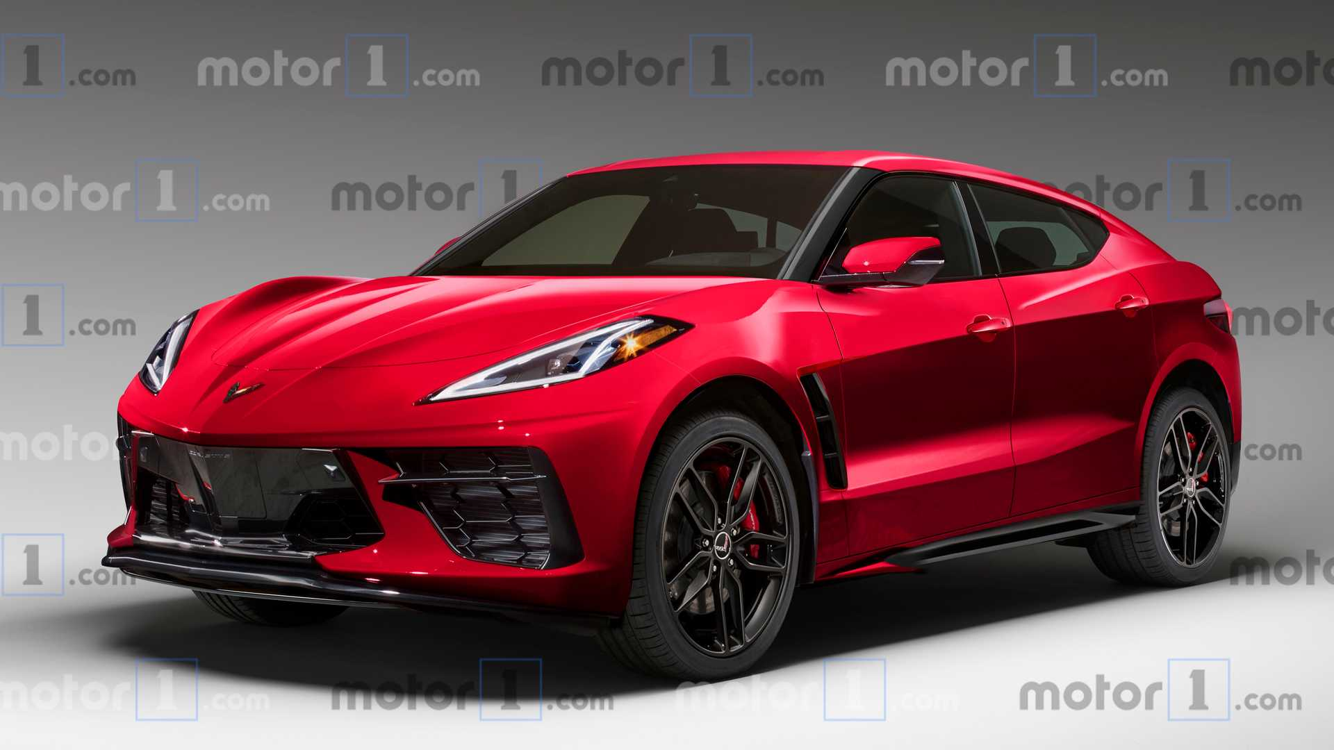 Rendering of a possible Corvette SUV (Image courtesy of Motor1.com)